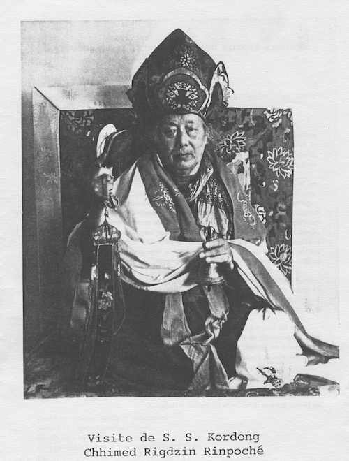 guide spirituel Shhimed Rigzin Rinpoche - Bruno Lallement